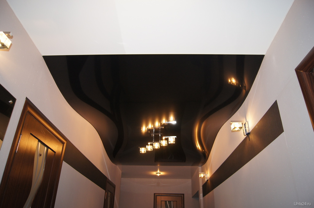 Креативные натяжные потолки фото
